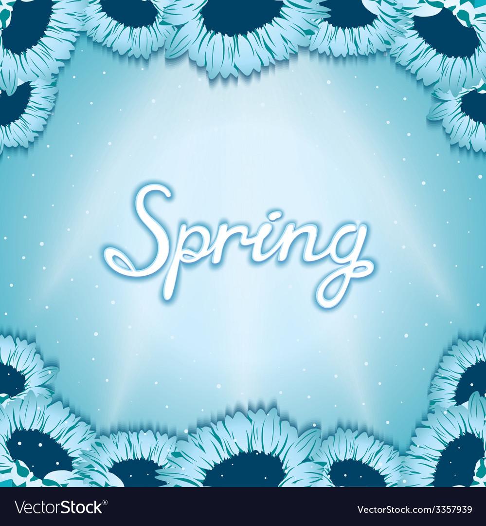 Spring awakening poster vector | Price: 1 Credit (USD $1)