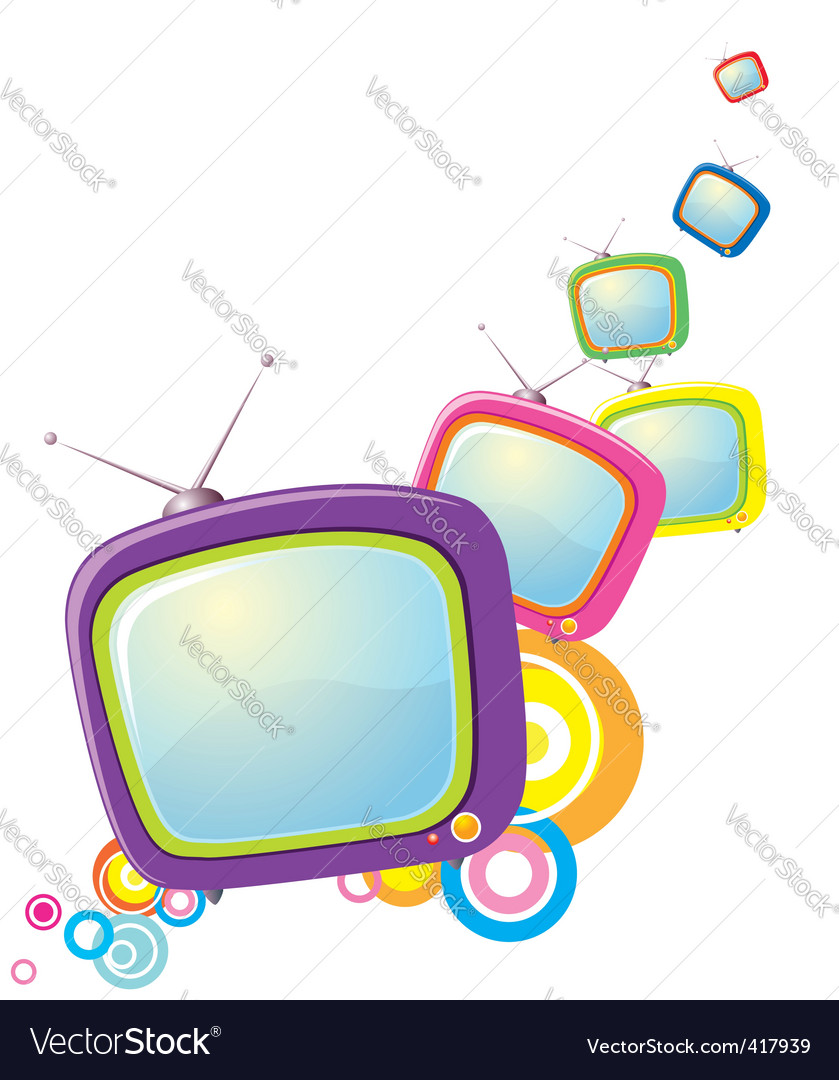 Tv monitors vector | Price: 1 Credit (USD $1)