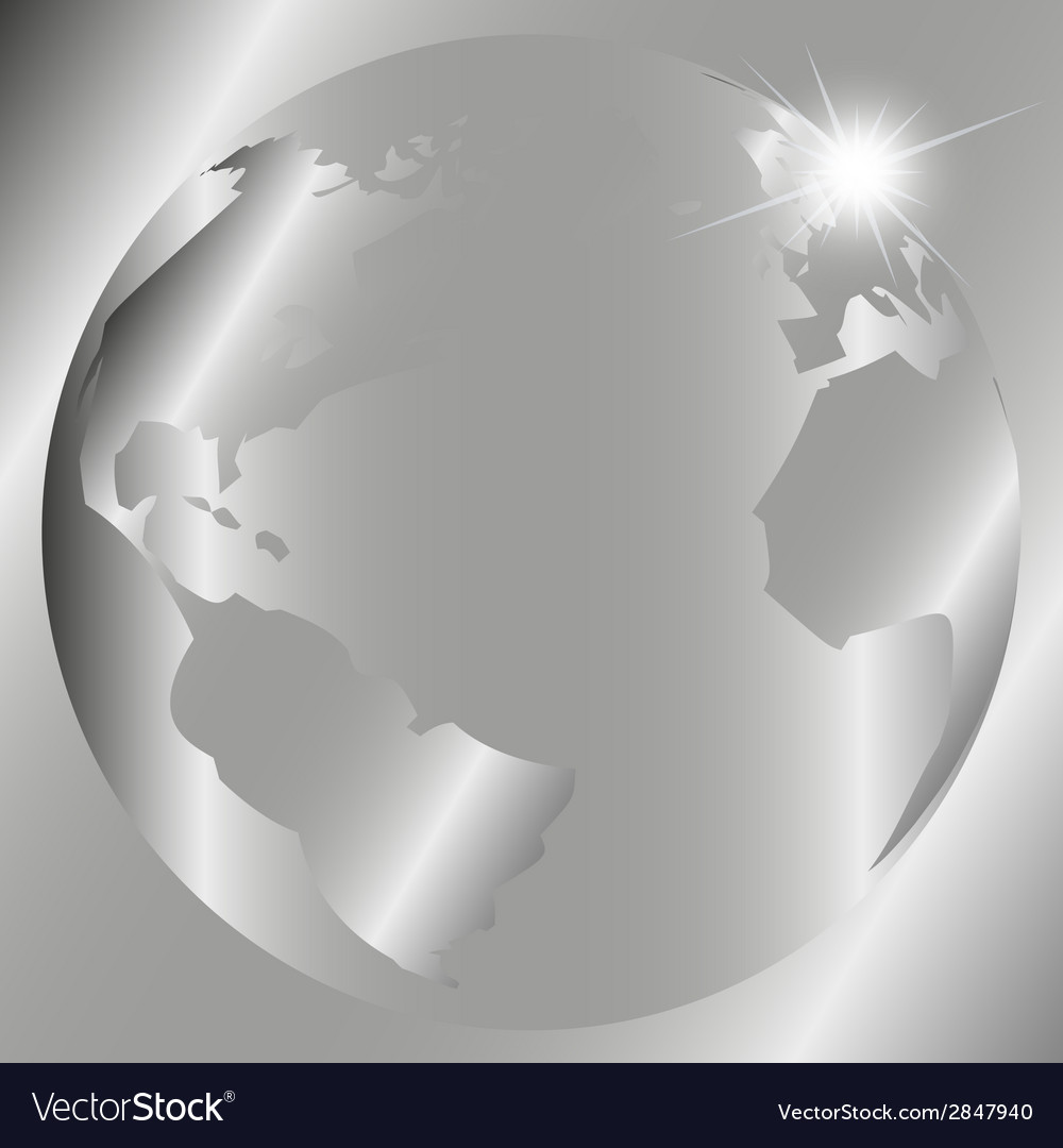 Abstract gray background with globe vector