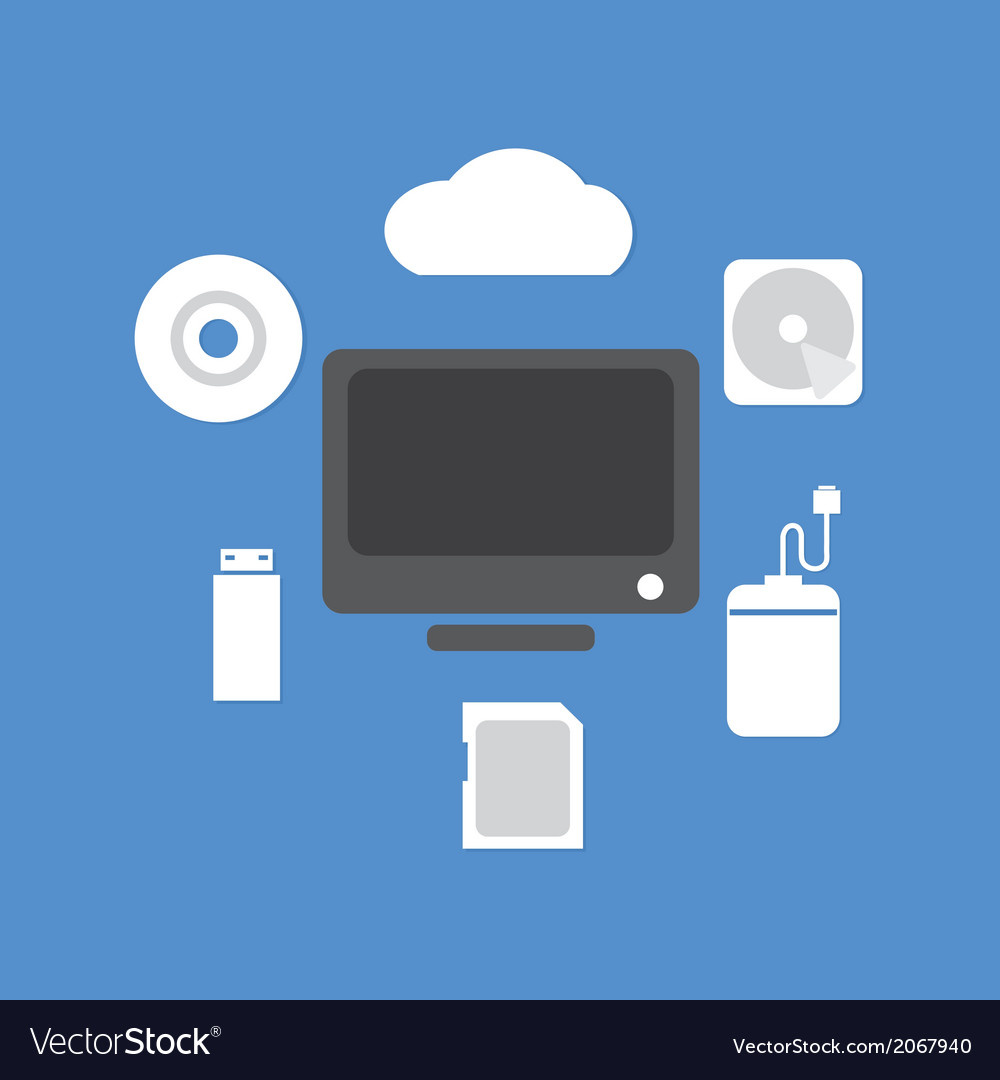 Backup device vector | Price: 1 Credit (USD $1)