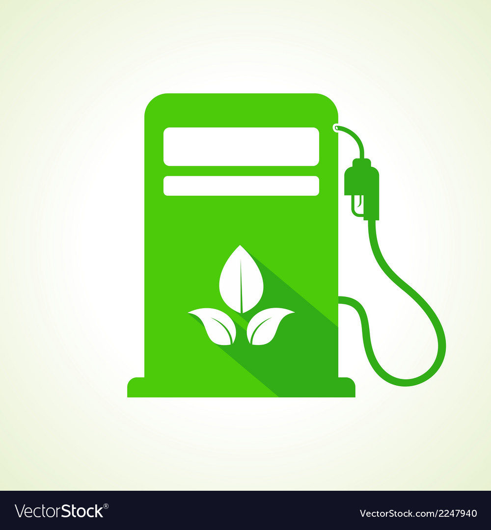 Bio fuel concept with petrol pump machine vector | Price: 1 Credit (USD $1)