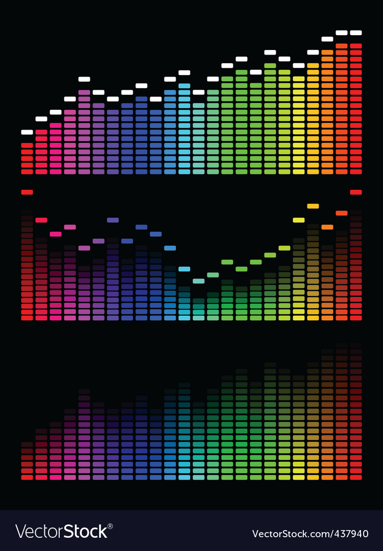 Digital equalizer vector | Price: 1 Credit (USD $1)