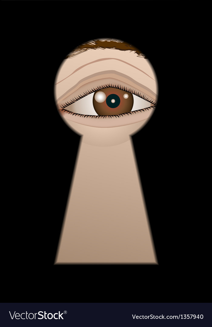 Eye behind a keyhole vector | Price: 1 Credit (USD $1)