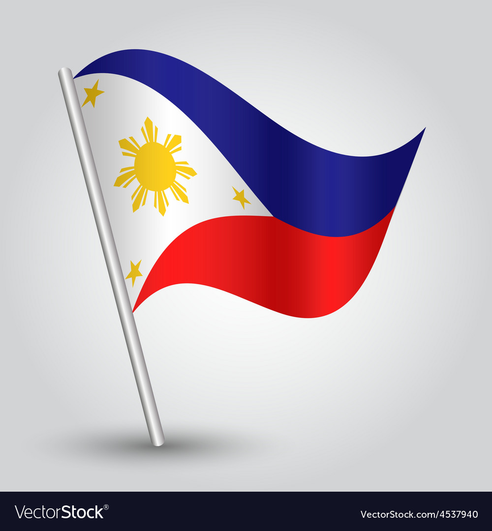 Flag philippines vector | Price: 1 Credit (USD $1)