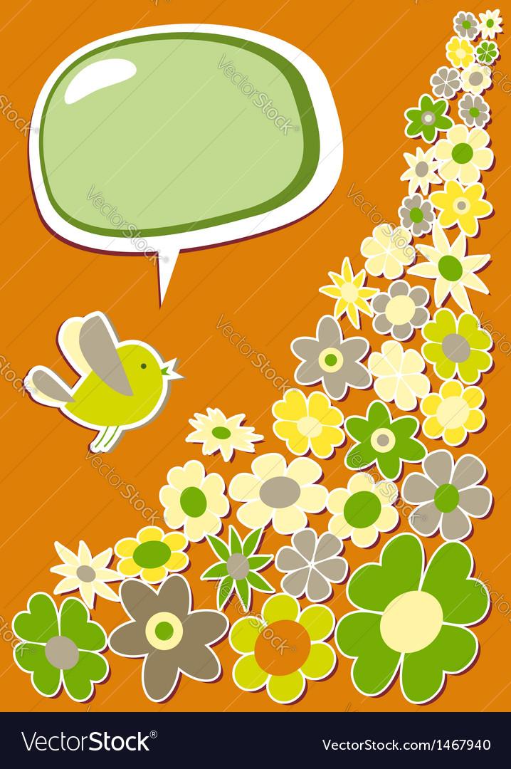 Fresh social media bird communication vector | Price: 1 Credit (USD $1)
