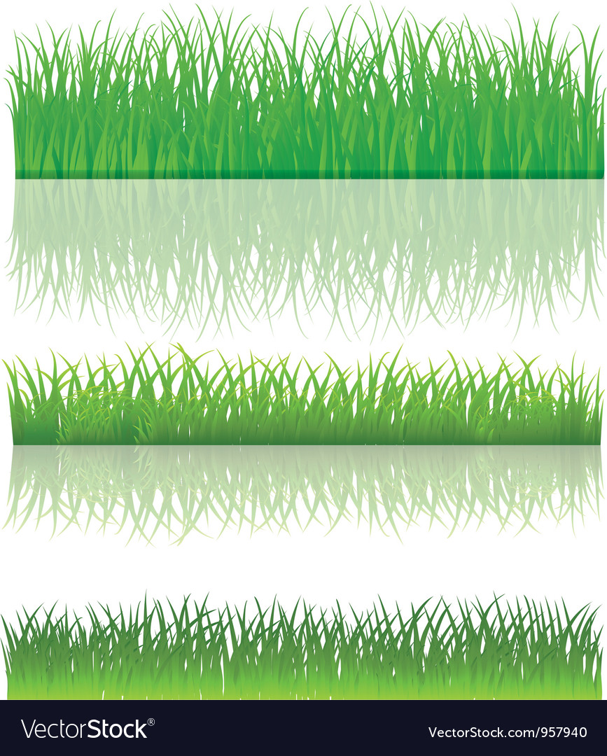The green grass set vector | Price: 1 Credit (USD $1)