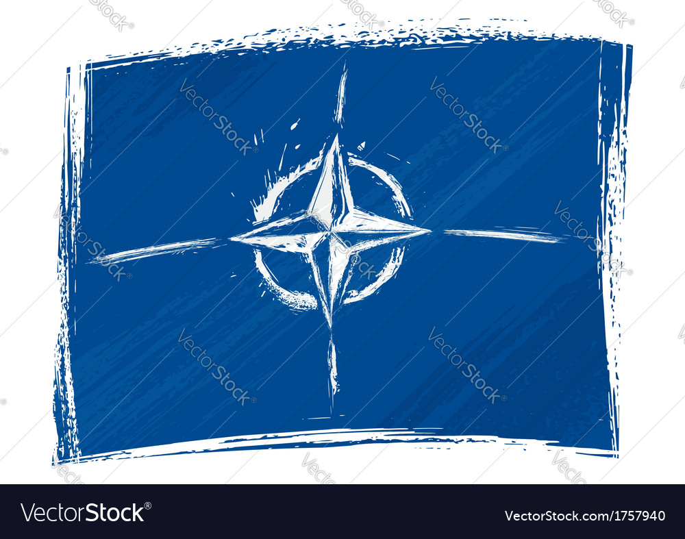 Grunge nato flag vector | Price: 1 Credit (USD $1)