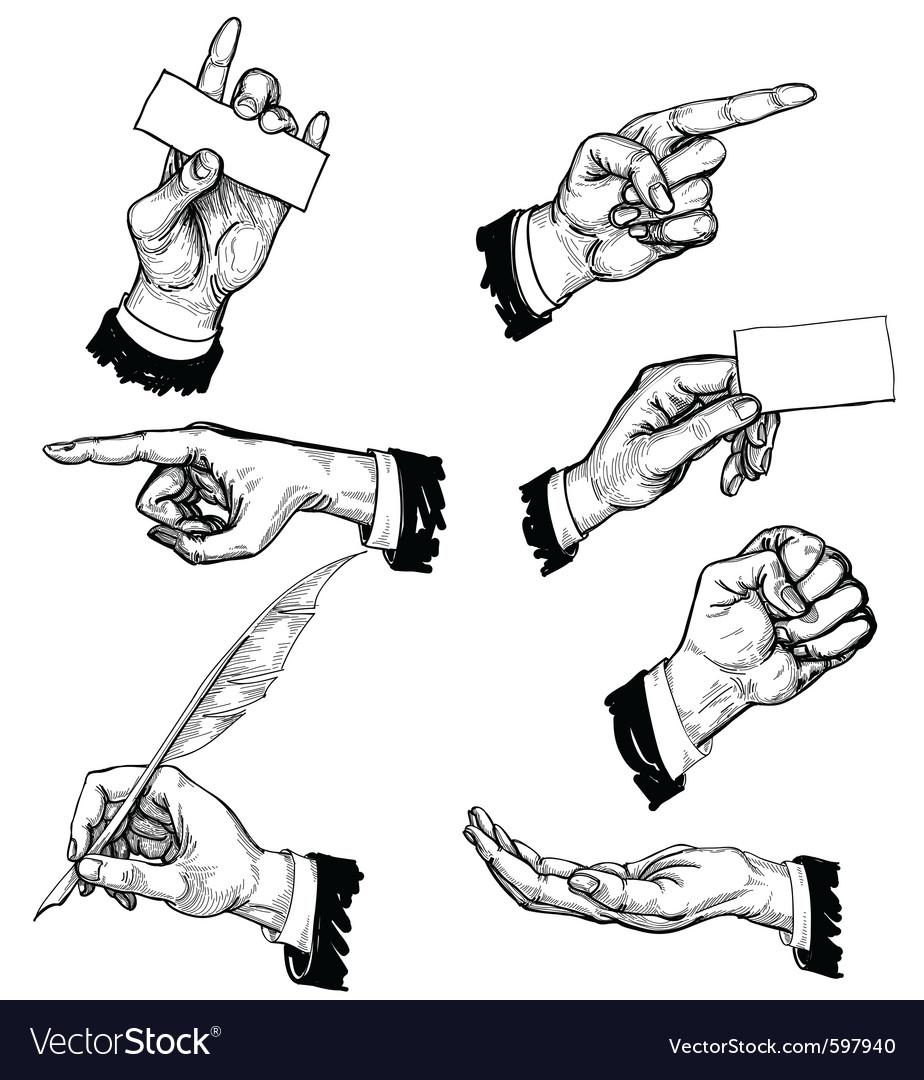 Hand gestures vector | Price: 3 Credit (USD $3)