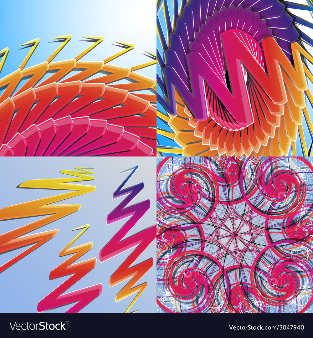Set of abstract rainbow colored backgrounds with vector | Price: 1 Credit (USD $1)