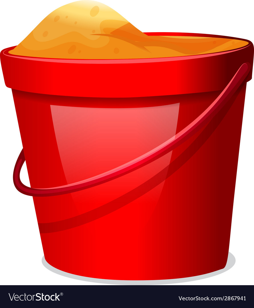 A red pail vector | Price: 1 Credit (USD $1)