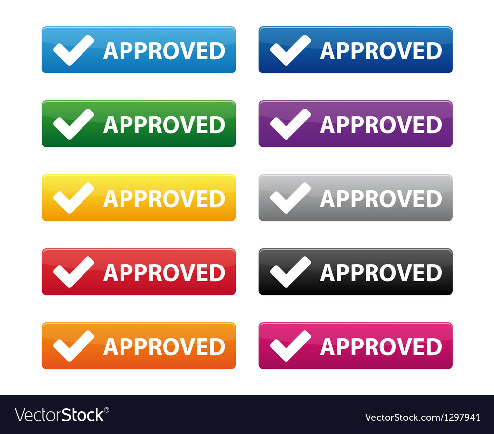 Approved buttons vector | Price: 1 Credit (USD $1)
