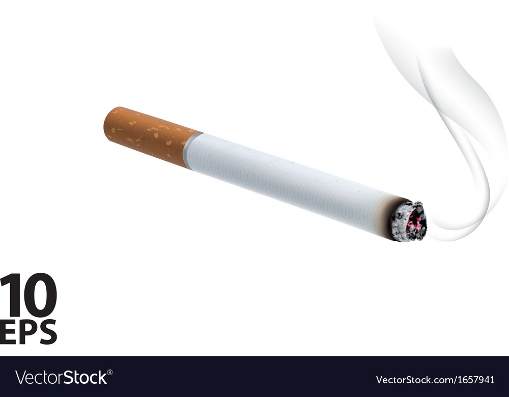 Burning cigarette vector | Price: 1 Credit (USD $1)
