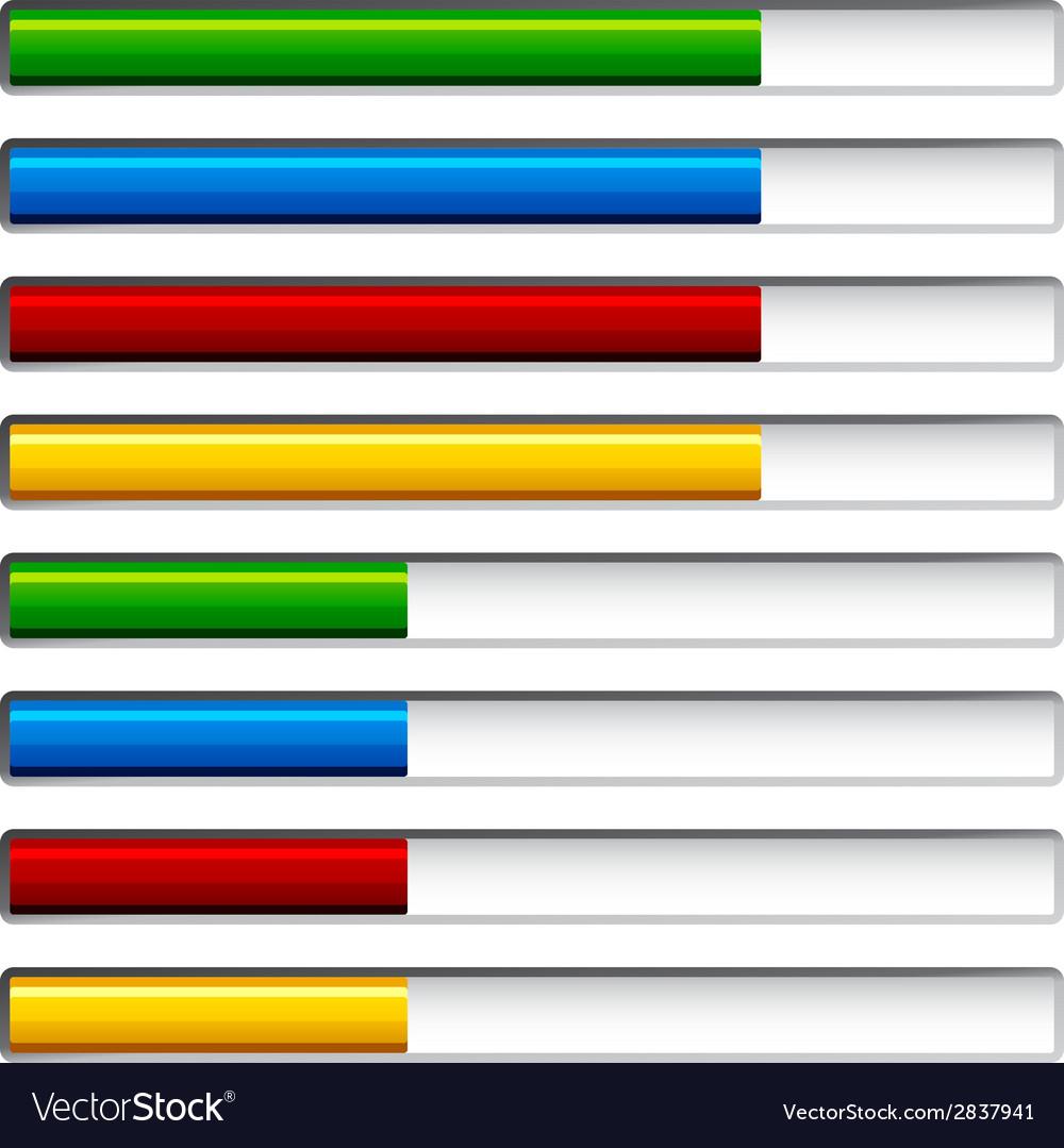 Progress bars vector | Price: 1 Credit (USD $1)