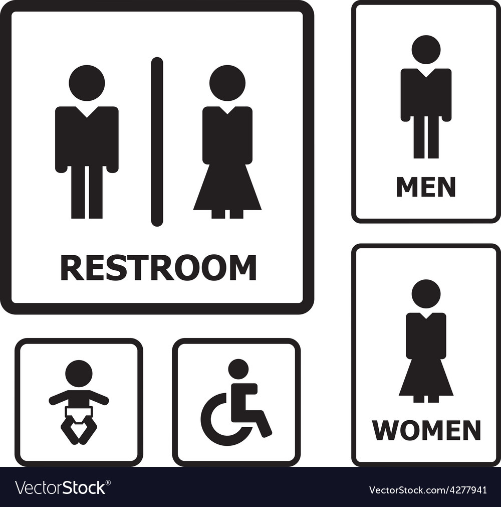 Restroom sign vector | Price: 1 Credit (USD $1)