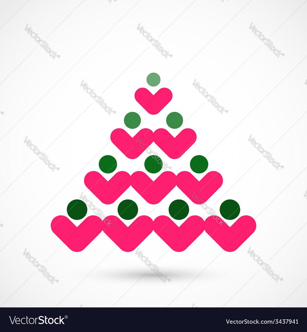 Social christmas tree vector   Price: 1 Credit (USD $1)