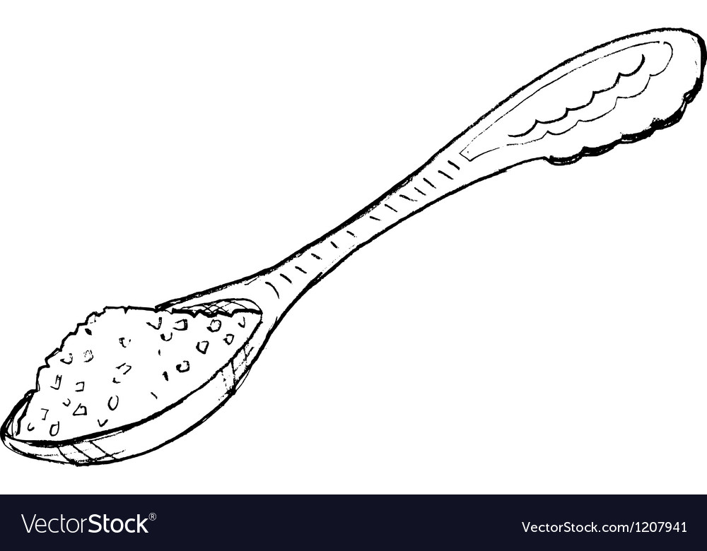 Spoon of sugar vector | Price: 1 Credit (USD $1)