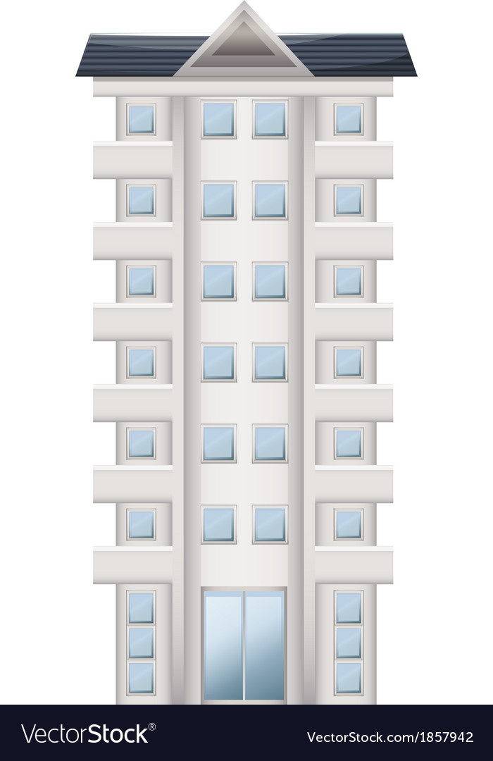 A tall condominium vector | Price: 1 Credit (USD $1)