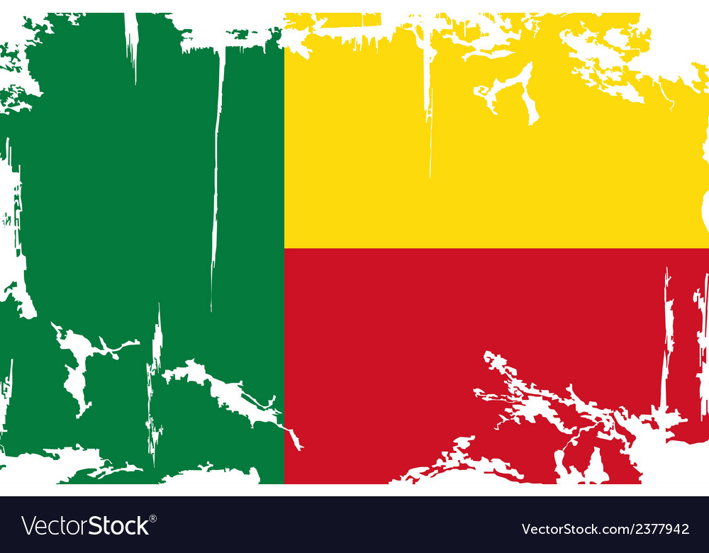 Benin grunge flag vector | Price: 1 Credit (USD $1)
