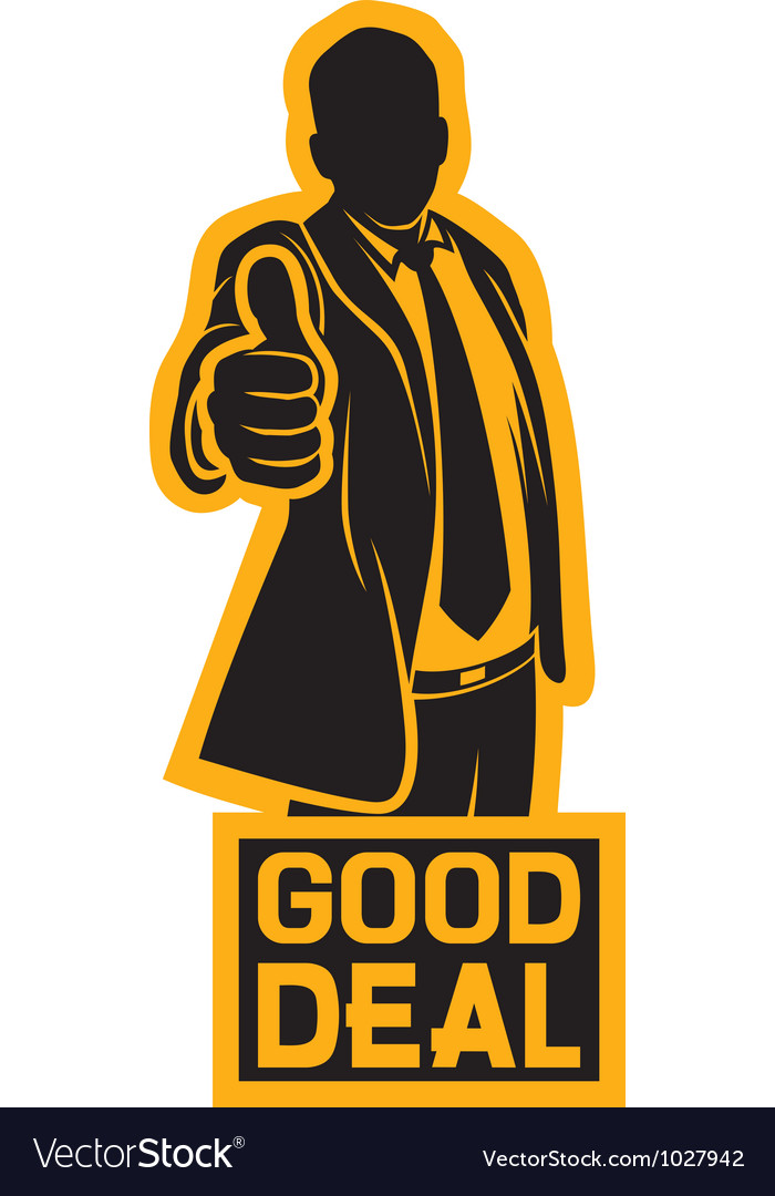Businessman showing thumbs up vector | Price: 1 Credit (USD $1)