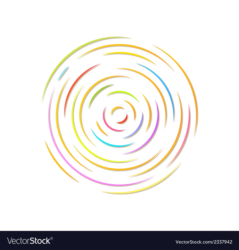 Circle with color rounded lines vector | Price: 1 Credit (USD $1)