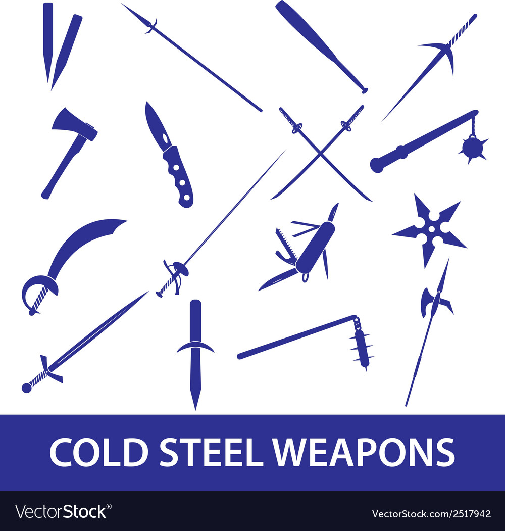 Cold steel weapons icons eps10 vector | Price: 1 Credit (USD $1)