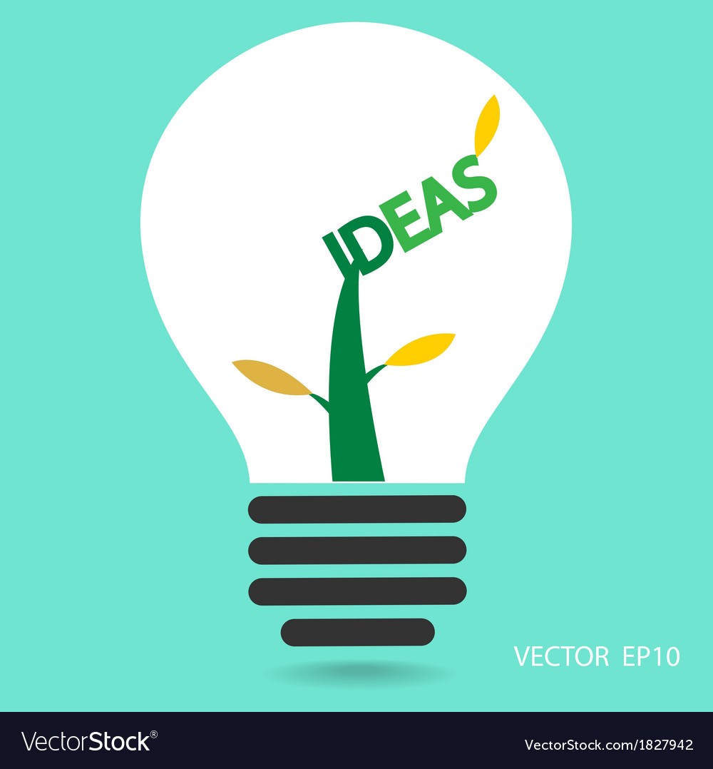 Creative light bulb sign vector | Price: 1 Credit (USD $1)