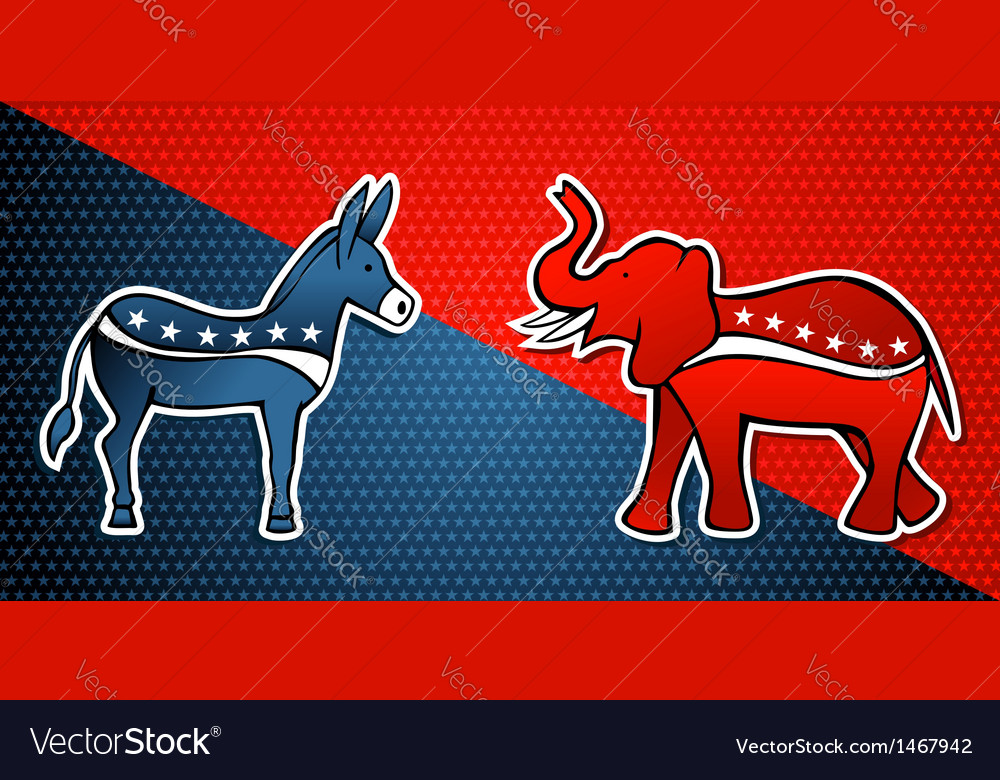 Democratic republican party vector | Price: 1 Credit (USD $1)