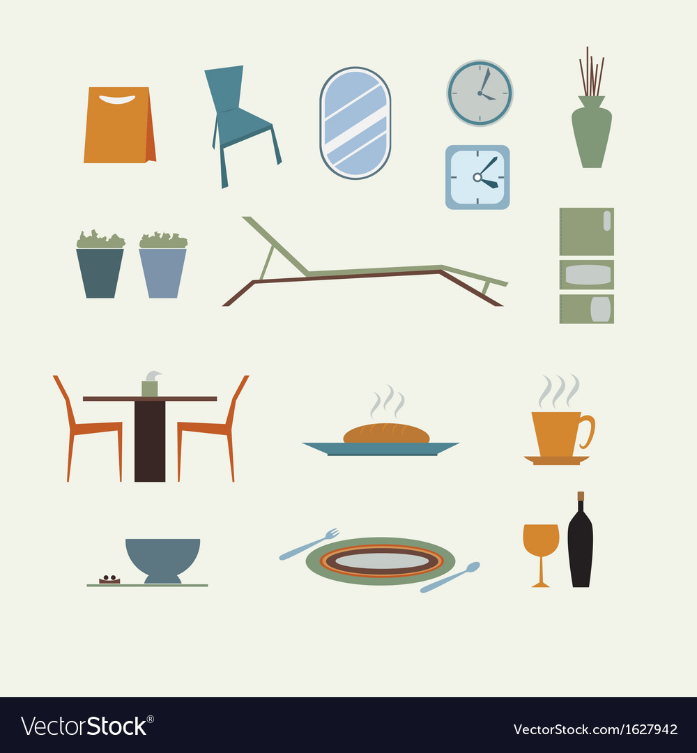Furniture for home decorate vector | Price: 1 Credit (USD $1)