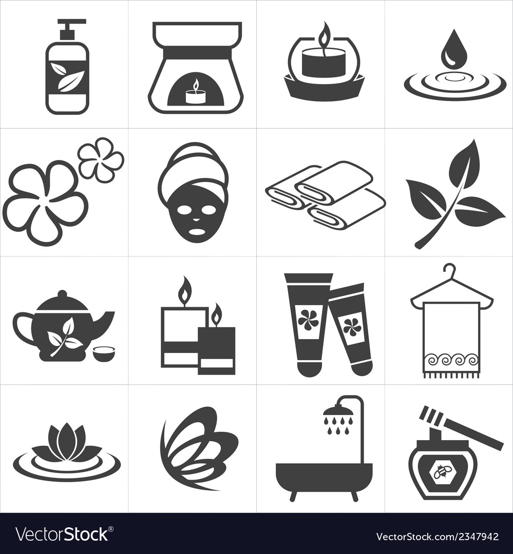 Icon spa and massage vector