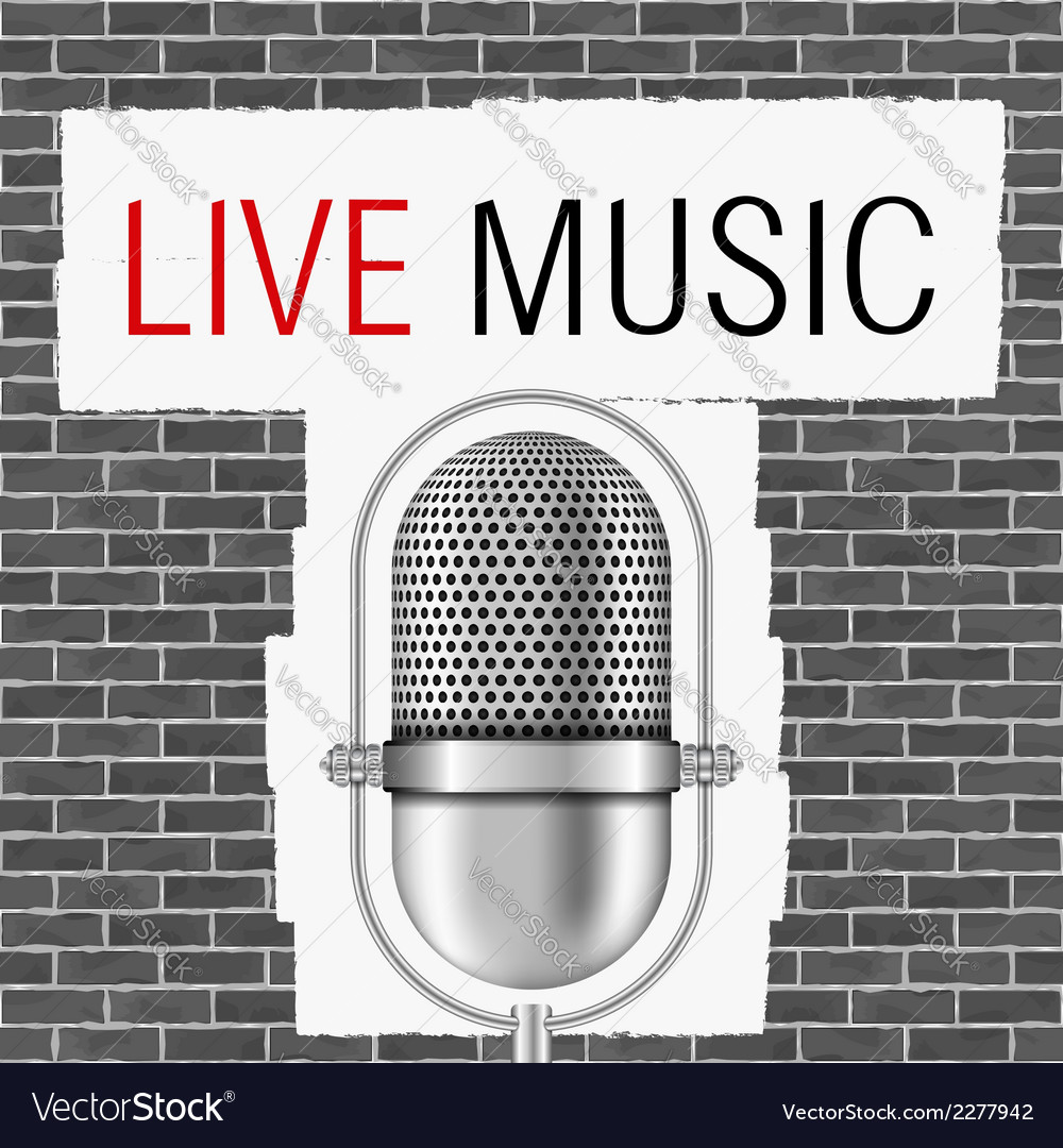 Live music banner vector | Price: 1 Credit (USD $1)