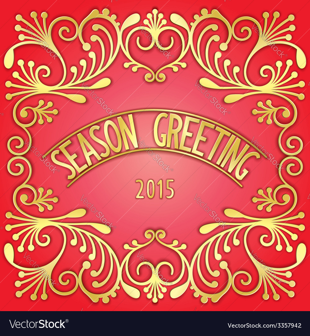 Luxurious greeting card vector | Price: 1 Credit (USD $1)