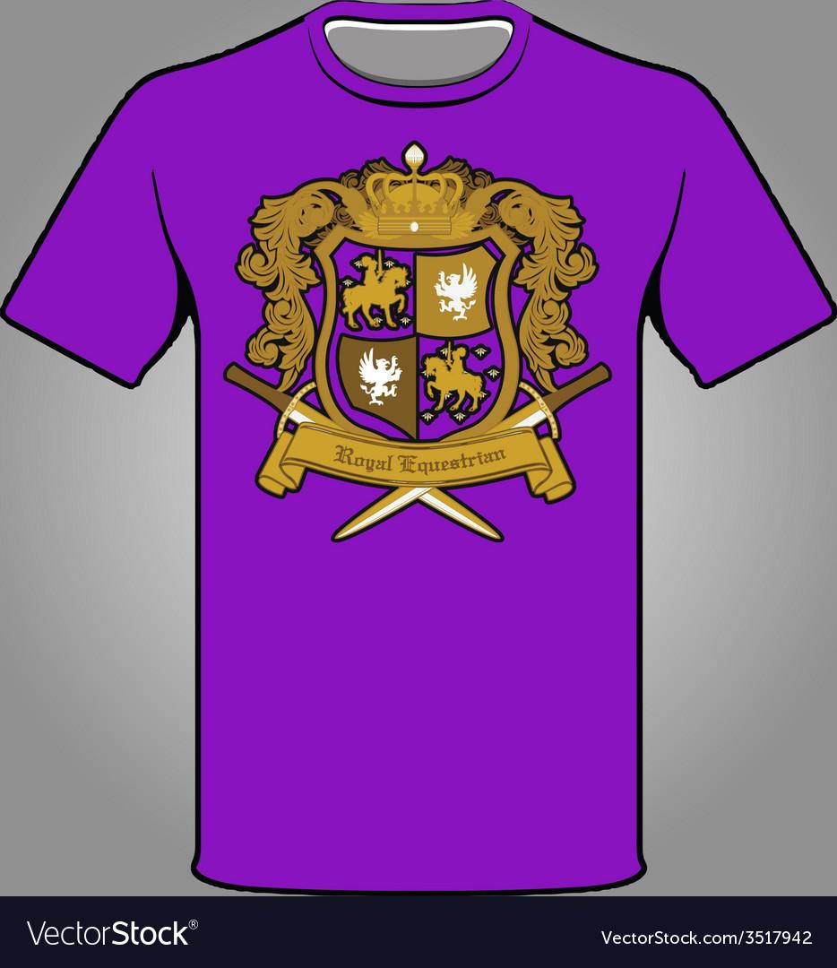 Royal emblem t-shirt vector | Price: 1 Credit (USD $1)