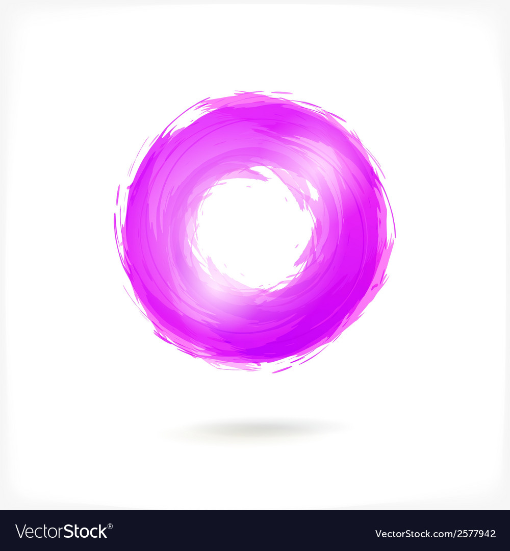 Violet business abstract circle icon vector | Price: 1 Credit (USD $1)