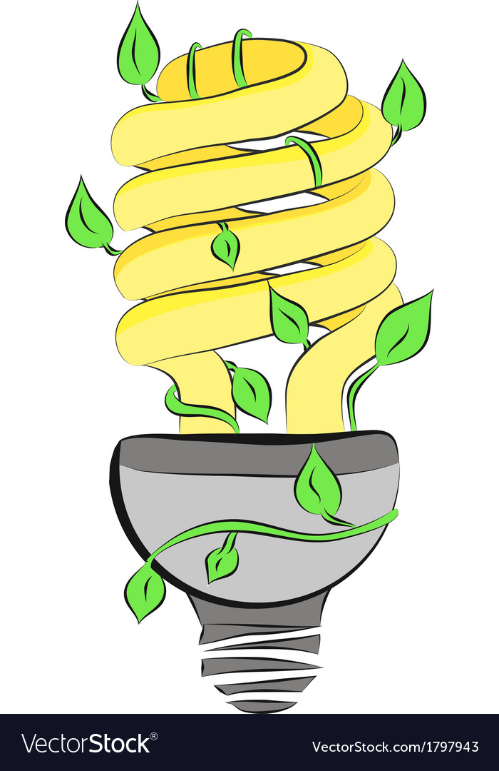 1energy saving light bulb vector | Price: 1 Credit (USD $1)