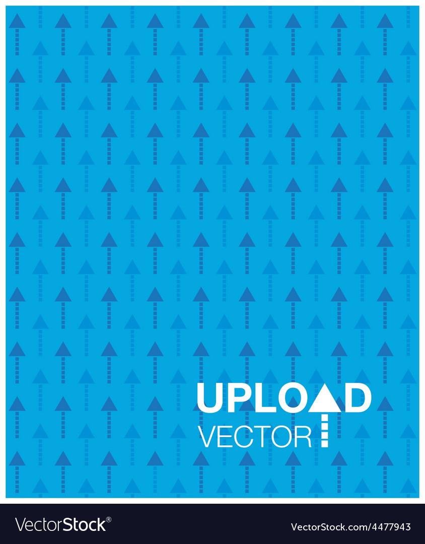 Blue upload background vector   Price: 1 Credit (USD $1)