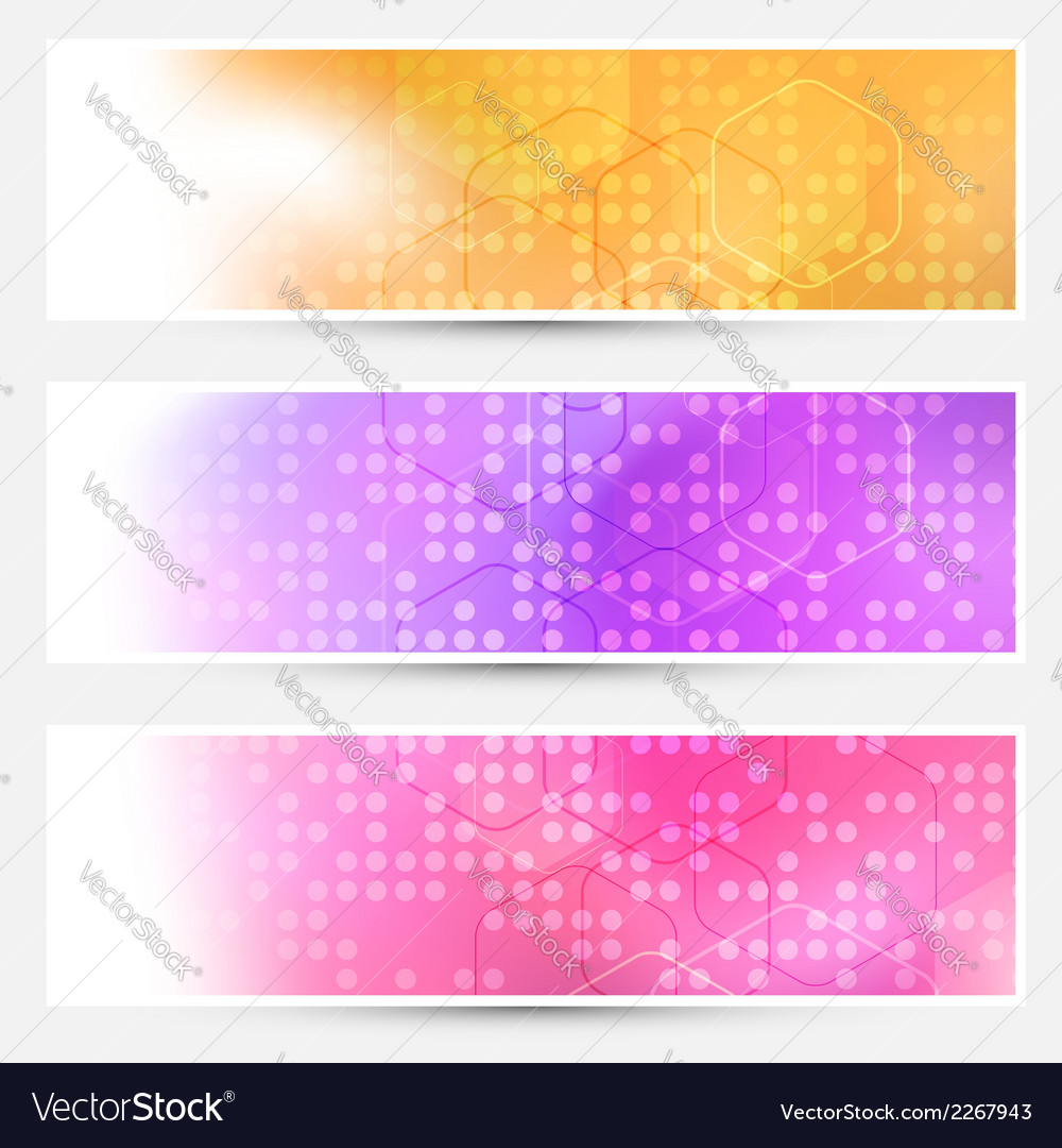 Bright abstract dotted cards collection vector | Price: 1 Credit (USD $1)