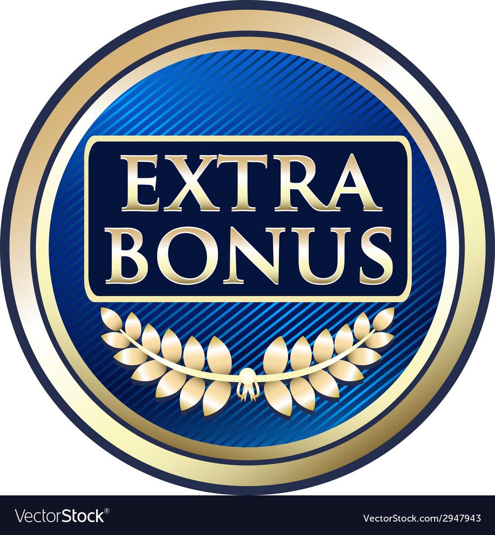 Extra bonus blue label vector | Price: 1 Credit (USD $1)
