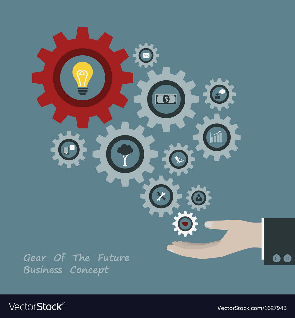 Gear of successful concept in businessman hand vector | Price: 1 Credit (USD $1)