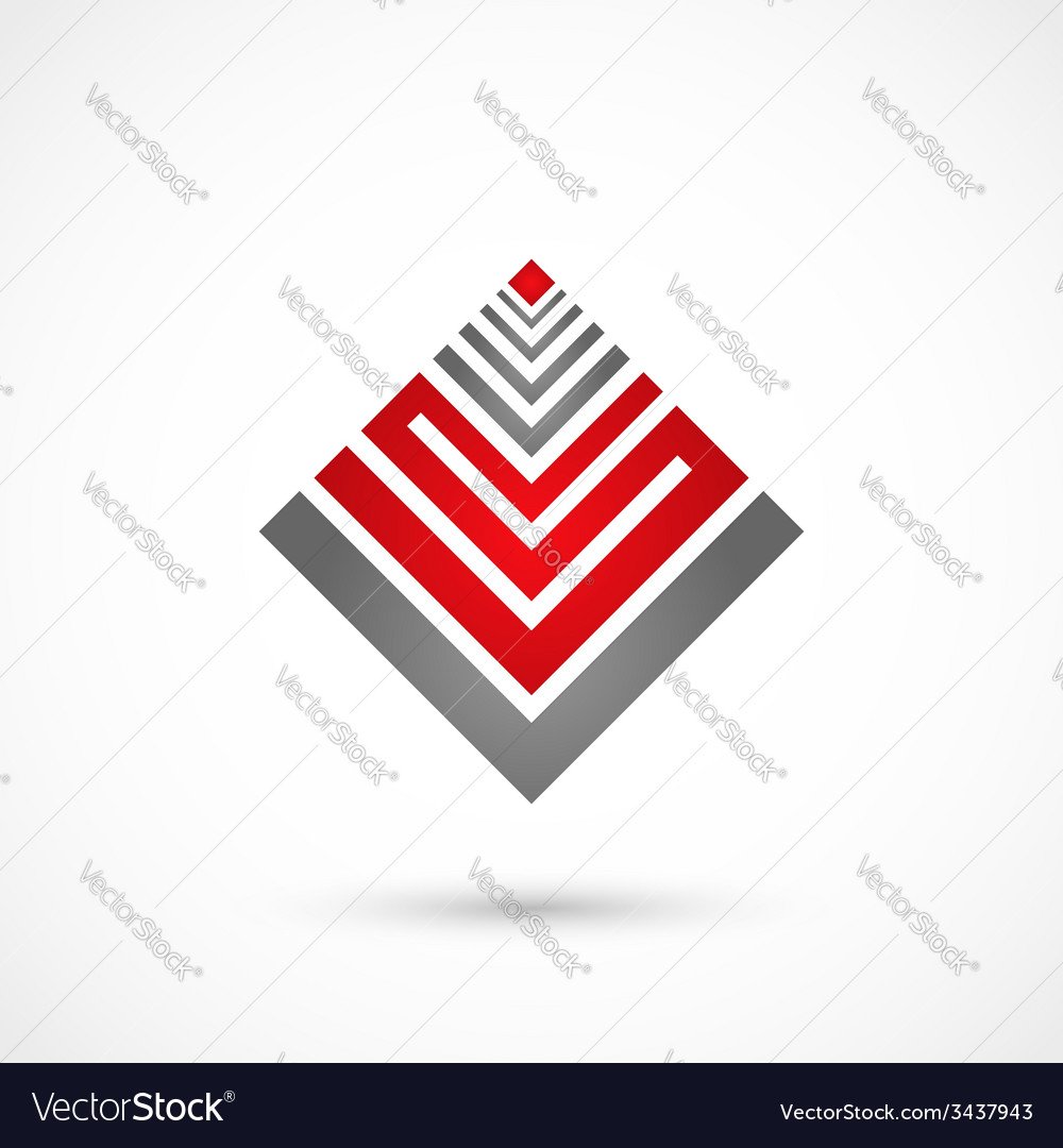 Geometrical heart vector