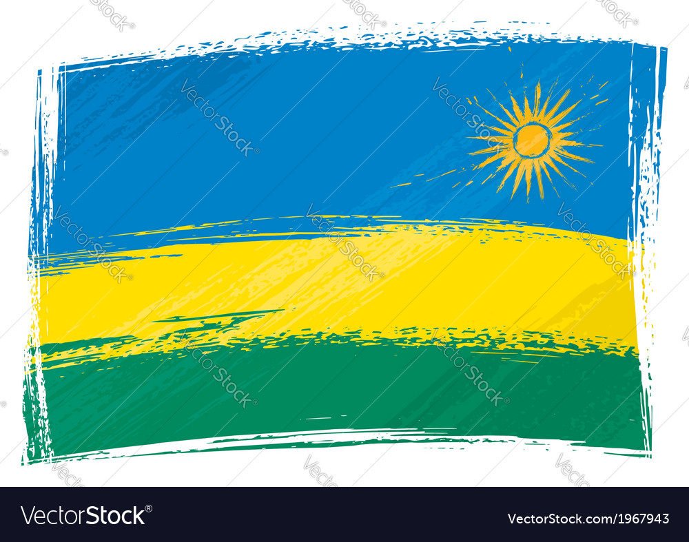 Grunge rwanda flag vector | Price: 1 Credit (USD $1)