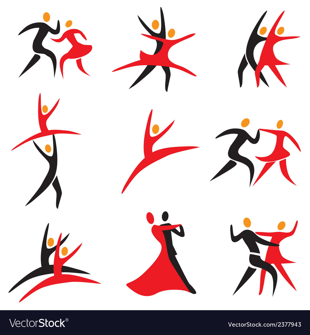 Icons dancing vector | Price: 1 Credit (USD $1)