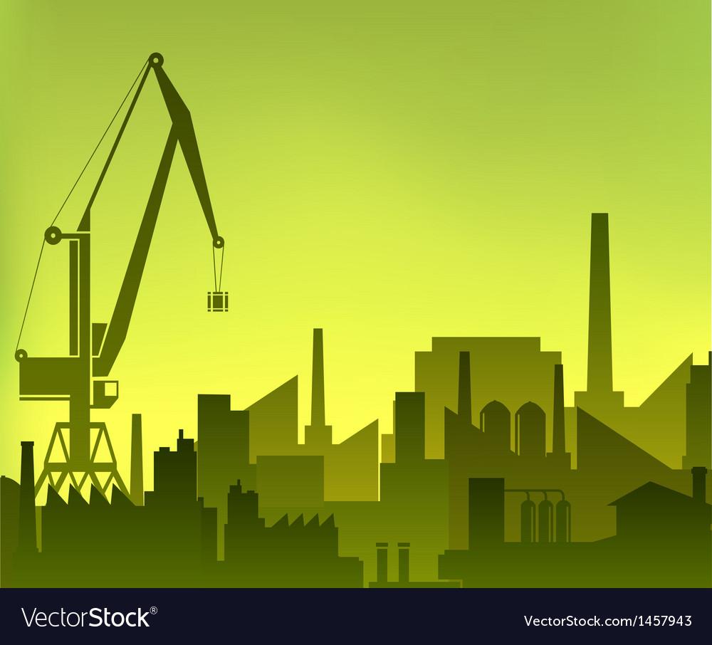 Industrial city vector | Price: 1 Credit (USD $1)