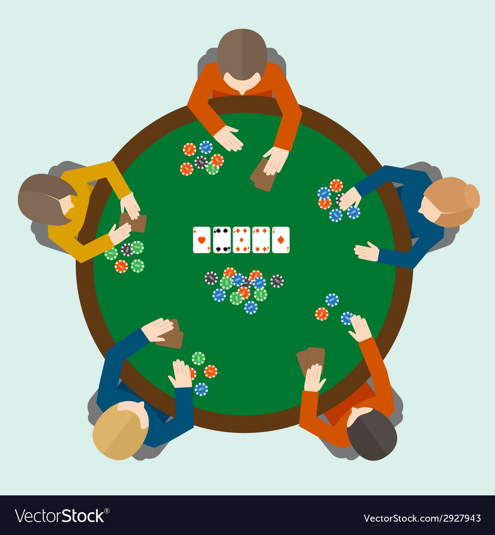 Poker game people vector | Price: 1 Credit (USD $1)