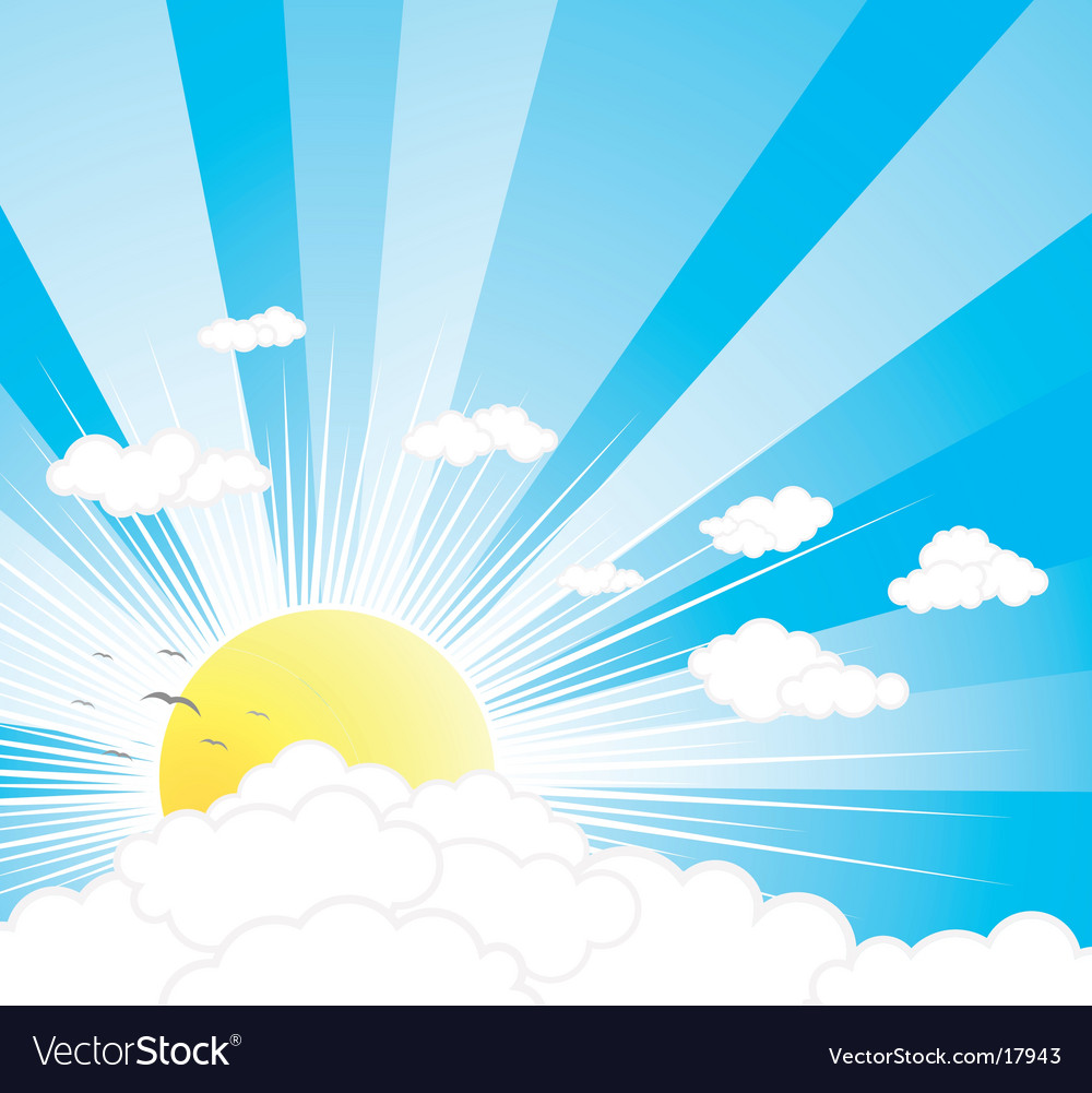 Sunny sky background vector | Price: 1 Credit (USD $1)