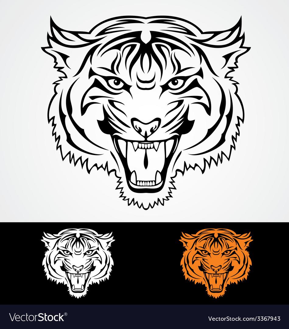 Tiger head vector | Price: 1 Credit (USD $1)