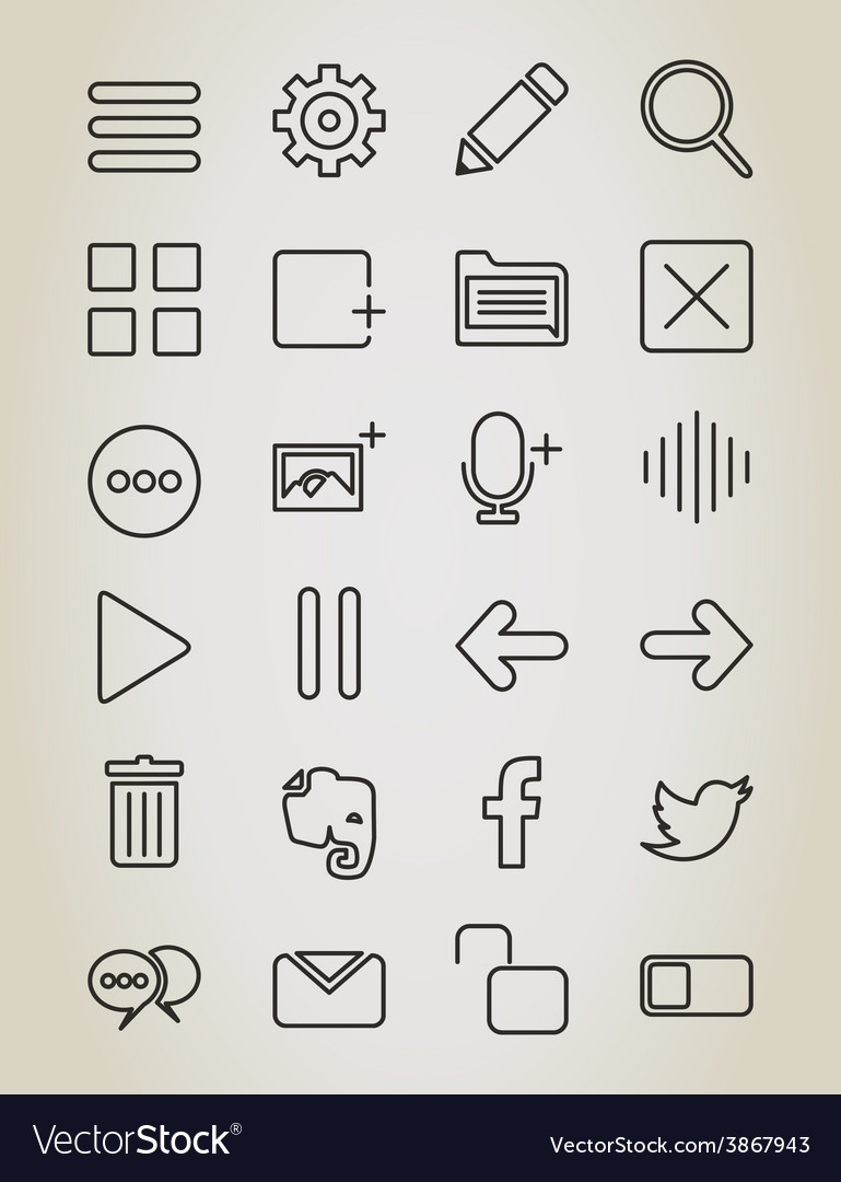 Web outline icon vector | Price: 1 Credit (USD $1)