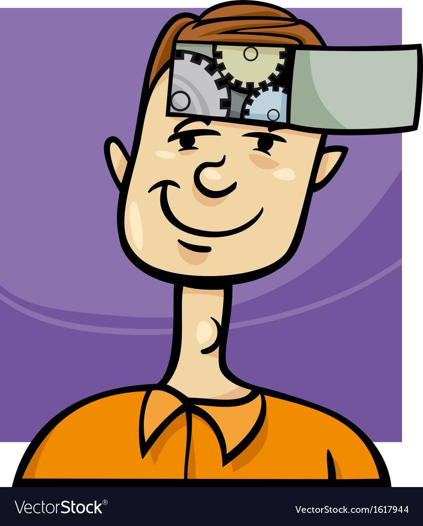 Clever guy cartoon vector   Price: 1 Credit (USD $1)