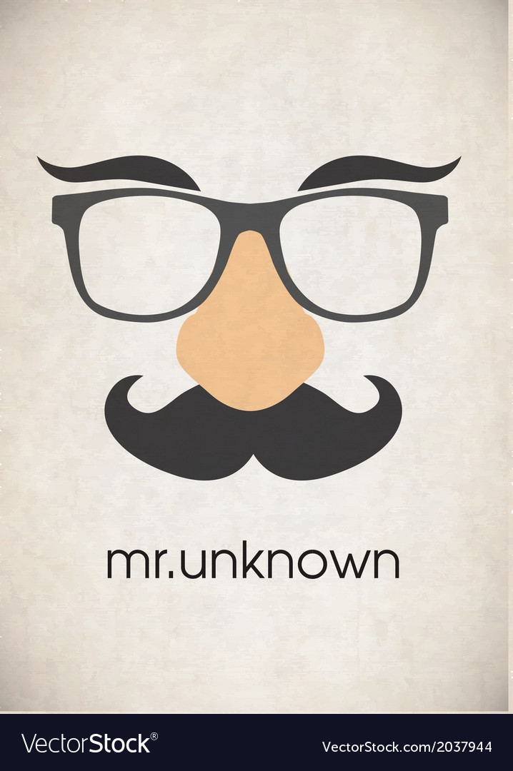 Disguise glasses vector | Price: 1 Credit (USD $1)