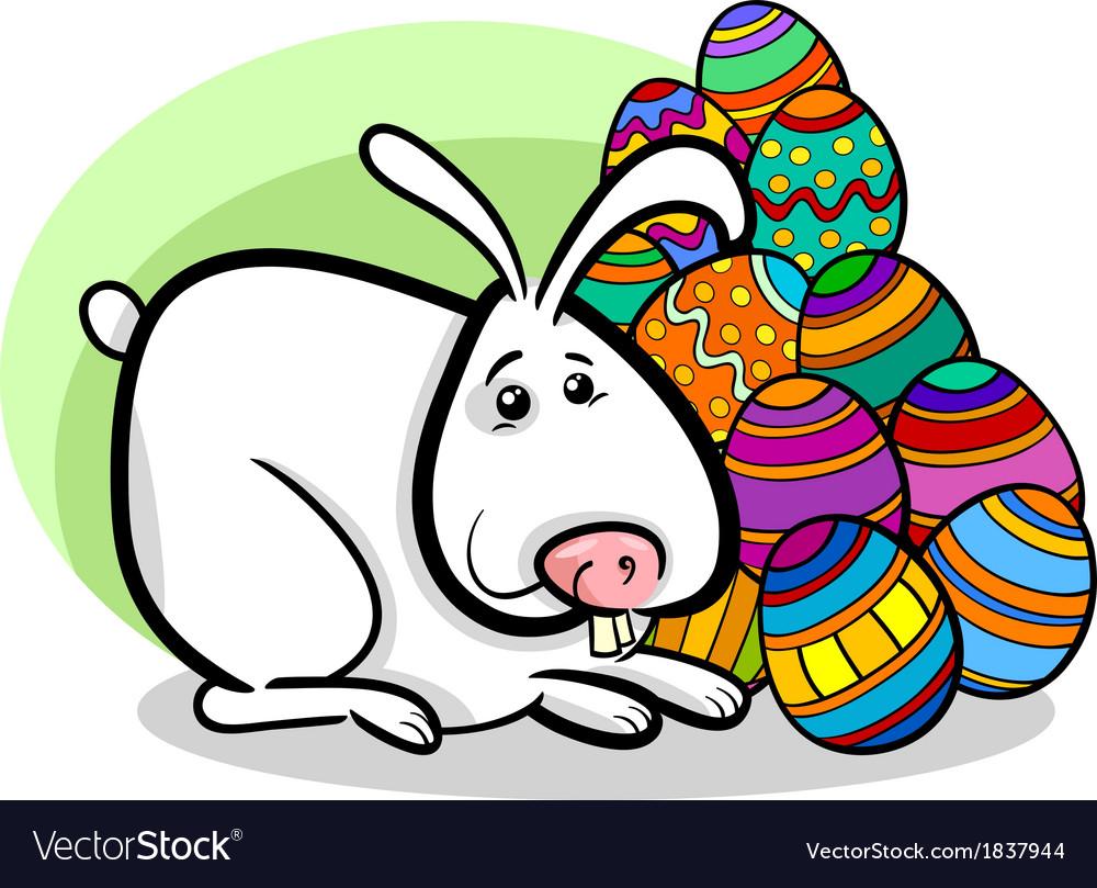 Easter bunny cartoon vector | Price: 1 Credit (USD $1)