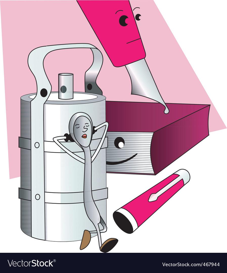 Tiffin box vector